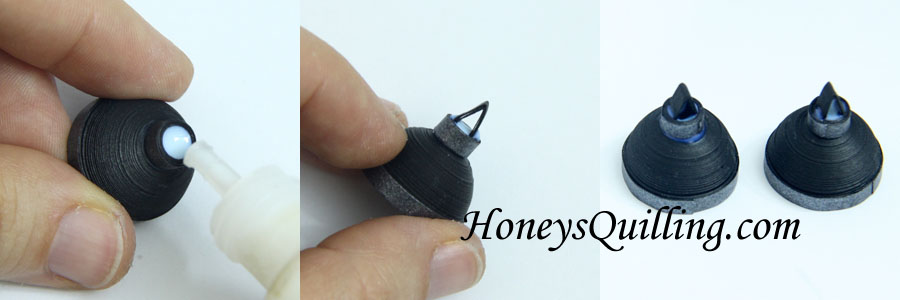 How to make Jhumka earrings with paper quilling - free tutorial from Honey's Quilling