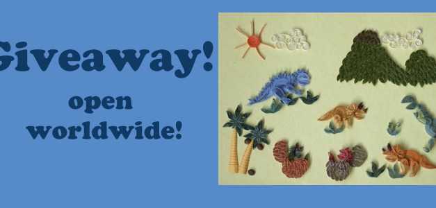 Giveaway – Open Worldwide!  Paper Quilling Prehistoric Times Kit