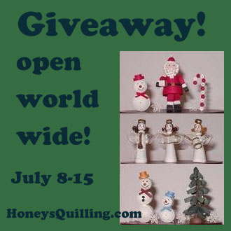 Giveaway from Honey's Quilling - open worldwide - 3D paper quilling Christmas kit