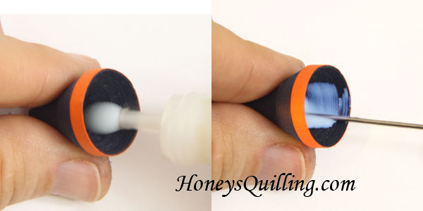 Make these Halloween Witch Hat Earrings with Paper Quilling - Free Tutorial from Honey's Quilling
