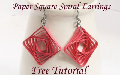 Square Swirl Earrings – Free Paper Quilled Jewelry Tutorial using Border Buddy
