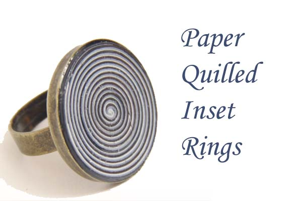 Paper Quilled Inset Rings