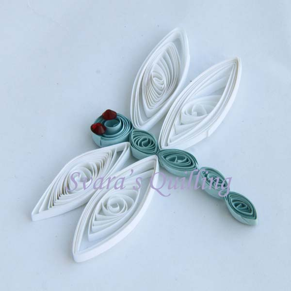 Quilling for Kids - Svara's Paper Quilled Dragonfly
