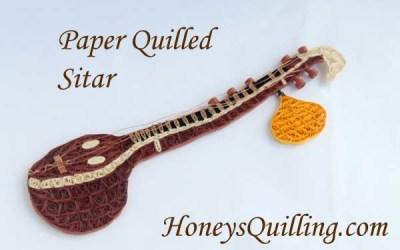 Paper Quilled Sitar – Indian Instrument
