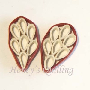 Tutorial - Make Paper Quilled Leaf Earrings - Honey's Quilling