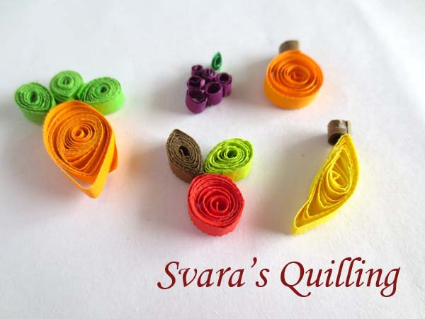 Paper quilling fruit designs - Quilling for Kids by Svara