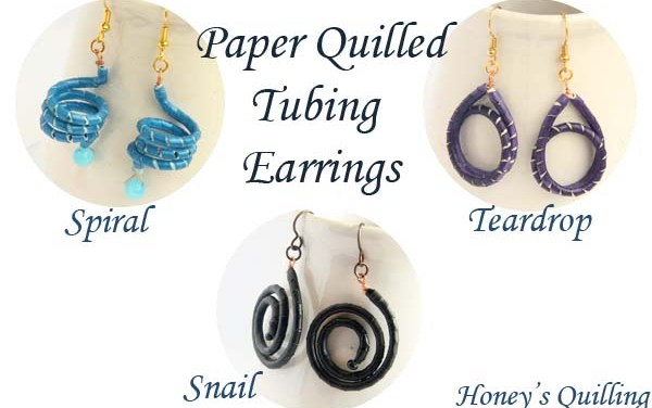 Paper Quilled Earrings Made with Tubing  – Learn How to Make Them Yourself!