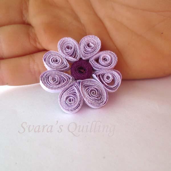 Quilling for Kids - Svara's Purple Flower