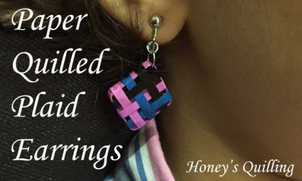 Paper Quilling Earrings in Woven Plaid Design – Honey's Quilling
