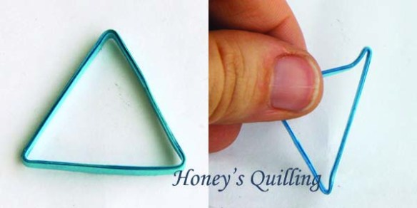 Paper Quilling Triangle Swirl Earrings Tutorial - Honey's Quilling