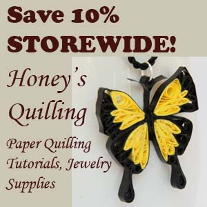 Black Friday and Cyber Week Sale - Save 10% storewide at Honey's Quilling on ZIbbet!