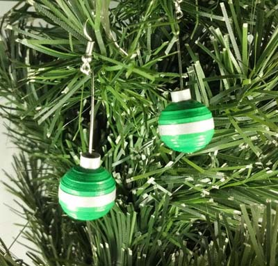 paper quilling ball ornament earrings