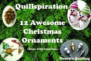 Quillspiration - a Roundup of 12 awesome paper quilling Christmas tree ornaments - Honey's Quillin