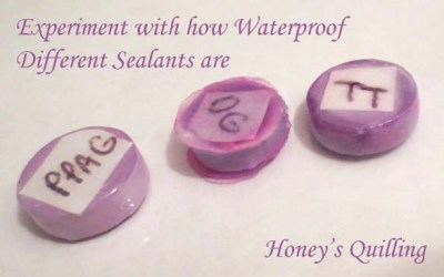 Experiments in How Waterproof Sealants for Paper Quilled Jewelry are