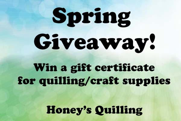 Giveaway – Win a Gift Certificate to Shop for Paper Quilling Supplies!
