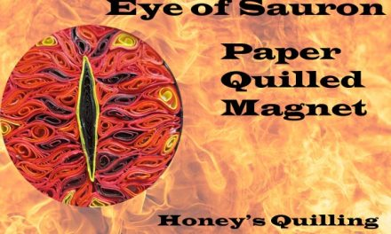 Eye of Sauron Magnet – Handmade Paper Quilling