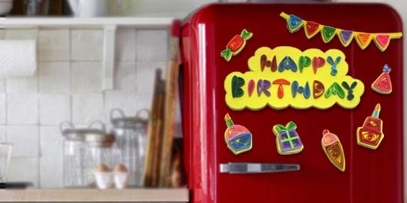 birthday magnets tutorial from Let's Quill On