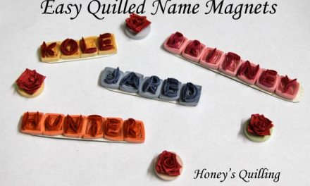 Easy Paper Quilled Name Magnets