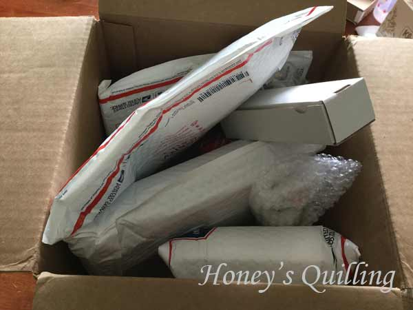 review of My Mall Box - Honey's Quilling
