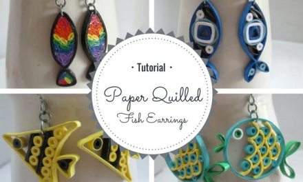 Tutorial for Paper Quilled Fish Earrings