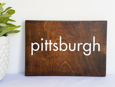 Customized Wooden City Signs