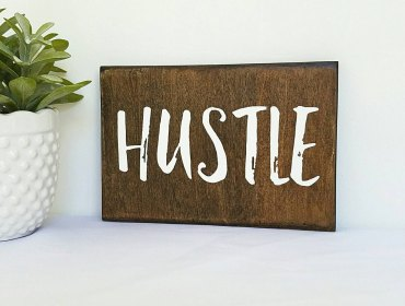 hustle sign