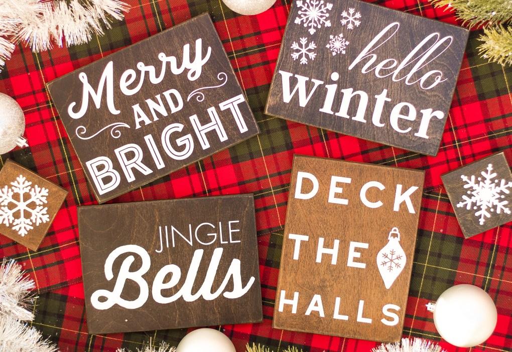 handmade christmas signs