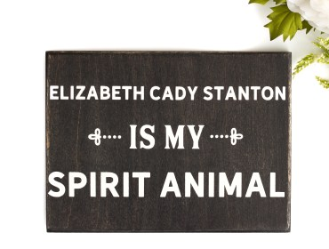 womens suffrage sign elizabeth cady stanton home decor