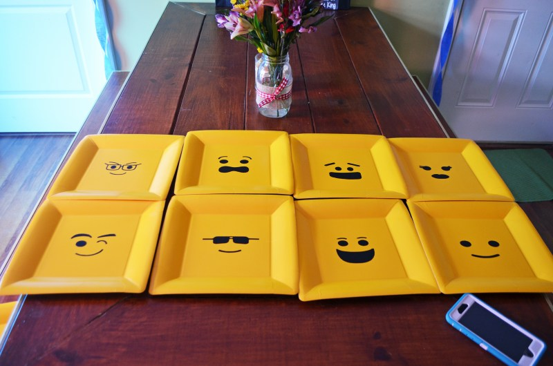 Custom Yellow Minifigure Heads Lego Birthday Party Plates