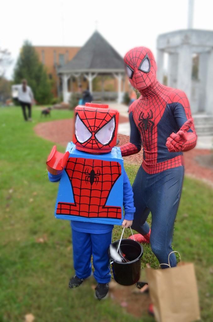DIY Lego Spiderman Costume Halloween Legoman