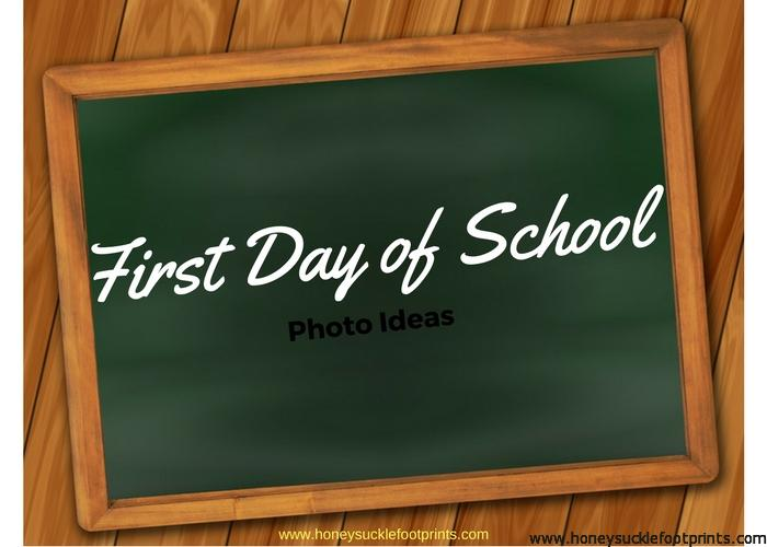 First Day of School Kindergarten Photo Ideas