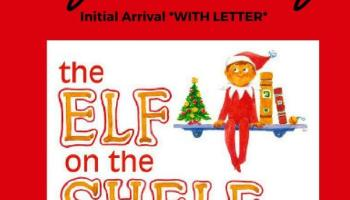 elf on the shelf arrival including letter