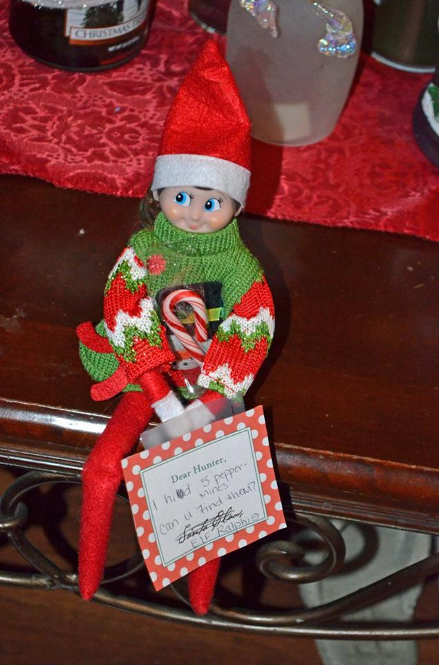 Unique Elf Ideas, creative, Elf on the Shelf, Elf hid candy canes