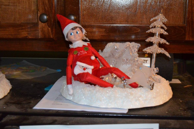 Unique Elf Ideas, creative, Elf on the Shelf, Skiing elf