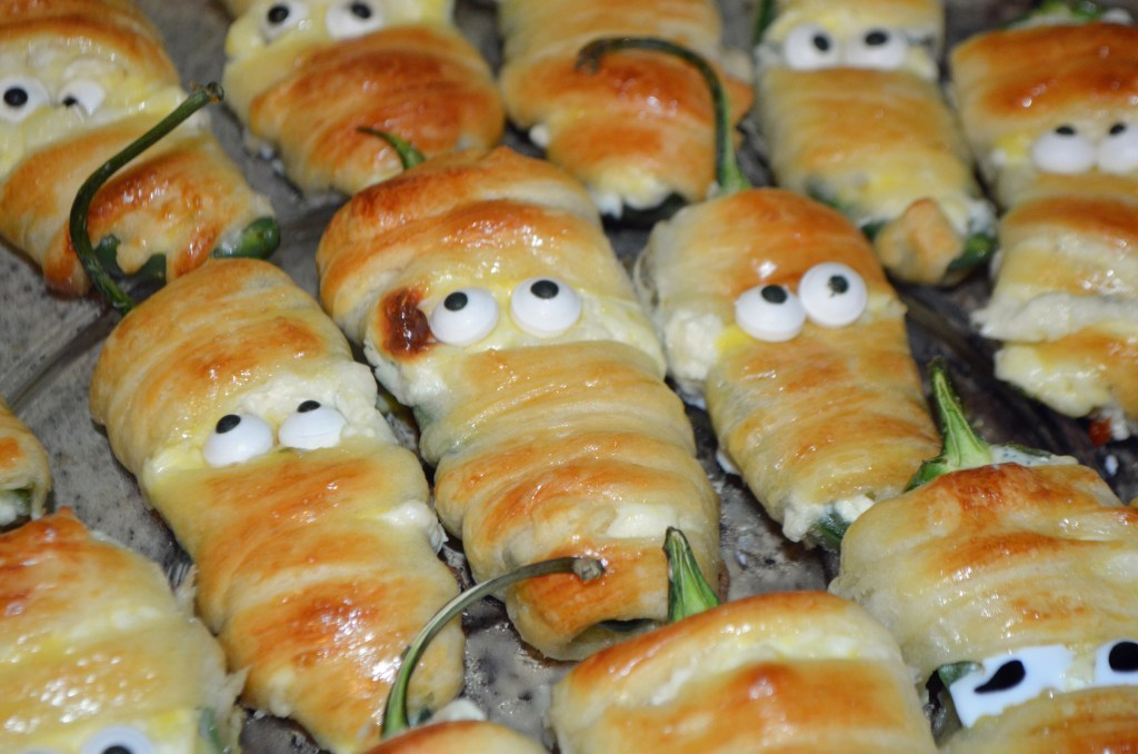 Mummy Jalapeno Poppers - Halloween Food