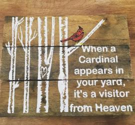 Cardinal Pallet Sign - DIY - In Memory Signs