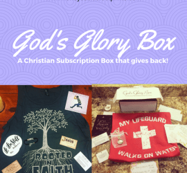 God's Glory Box, Subscription Box, Christian, Christian subscription box