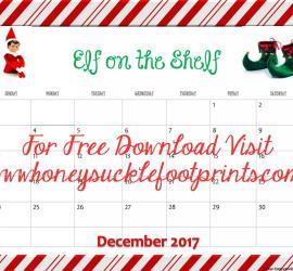 Elf on the Shelf Planning Calendar, Ideas