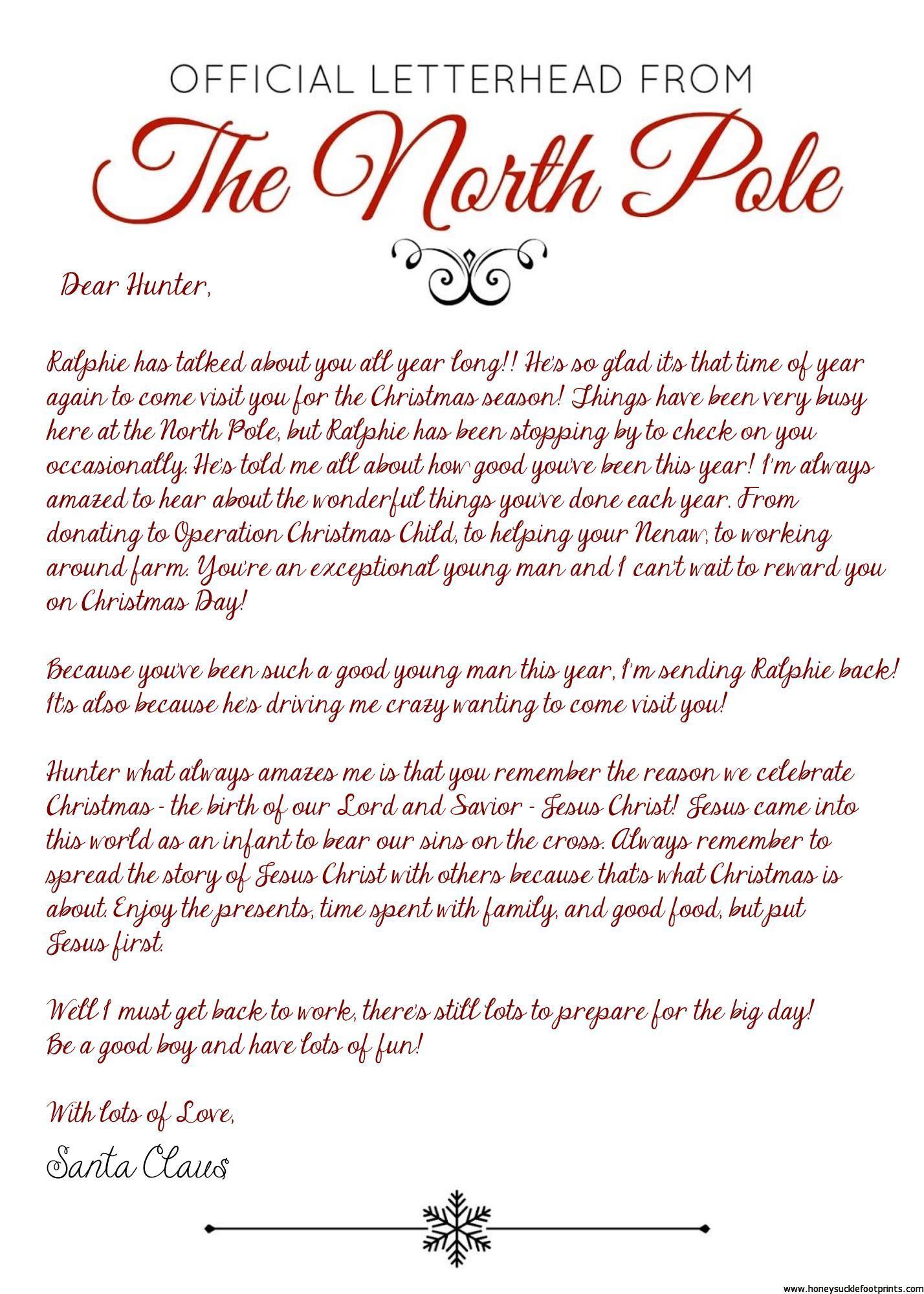 Elf On The Shelf Arrival Letter Jesus Version 2017 Free Download Honeysuckle Footprints