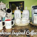 Rae Dunn Inspired Coffee Bar Honeysuckle Footprints