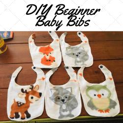 Beginner, DIY, Baby Bibs, Easiest, Tutorial