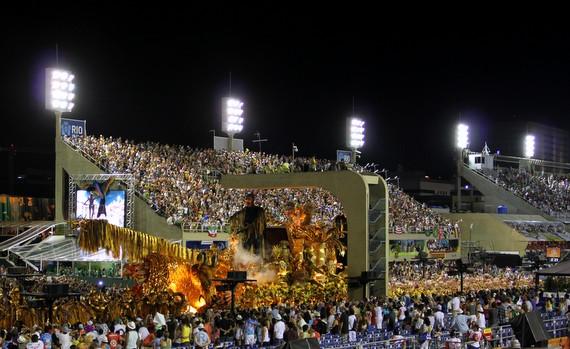 Sambodromo in Rio for Carnival