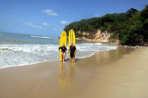 Surfing in Praia de Pipa