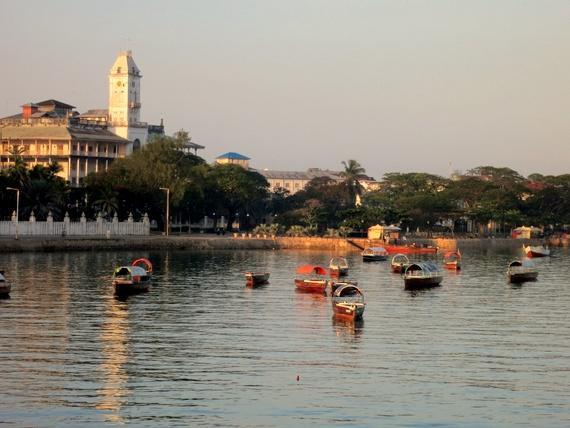 Zanzibar from ferry