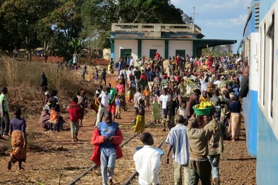 Mozambique train town