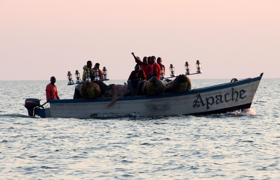 Dhows and dugout canoes on Lake Malawi
