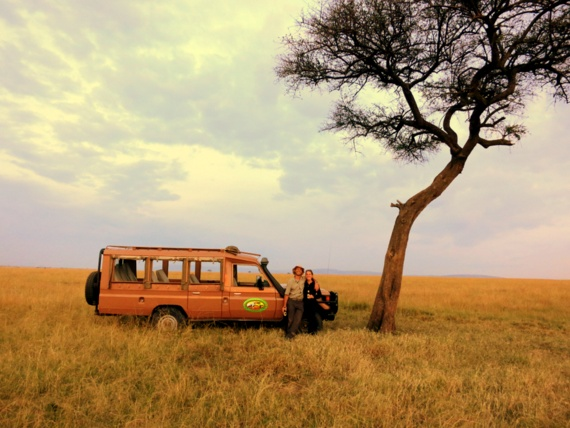 Sundowners on the Masai Mara, Kenya