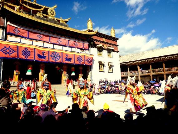 Gedong Mask Festival at Dongzhulin Monastery Benzilan