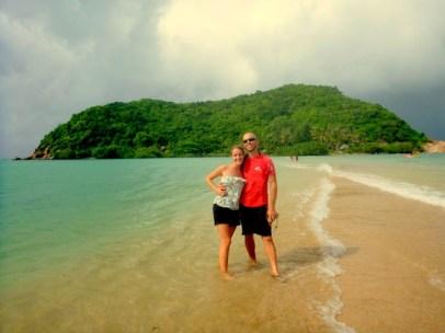 Sandbar connecting Mae Hat to the island of Koh Ma