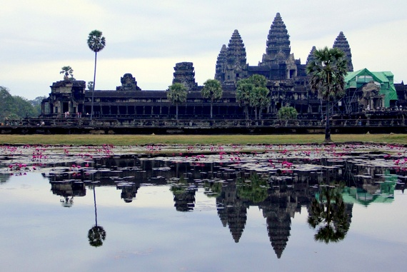 Best place to watch sunrise at Angkor Wat, Cambodia